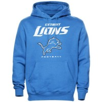 Detroit Lions Critical Victory Pullover Hoodie Light Blue