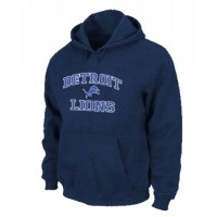 Detroit Lions Heart & Soul Pullover Hoodie Dark Blue