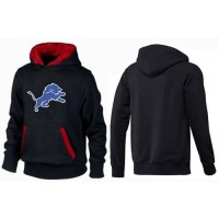 Detroit Lions Logo Pullover Hoodie Black & Red
