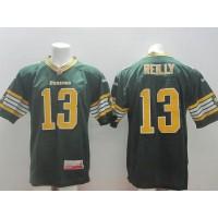Edmonton Eskimos #13 Mike Reilly Green Stitched CFL Jersey