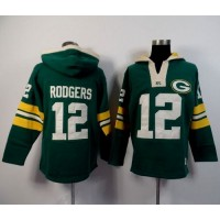 Green Bay Packers #12 Aaron Rodgers Green Player Winning Method Pullover NFL Hoodie