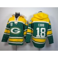 Green Bay Packers #18 Randall Cobb Green Sawyer Hooded Sweatshirt NFL Hoodie