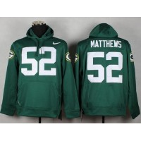 Green Bay Packers #52 Clay Matthews Green Pullover NFL Hoodie