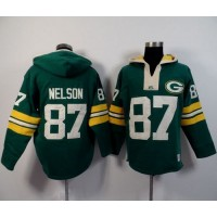 Green Bay Packers #87 Jordy Nelson Green Player Winning Method Pullover NFL Hoodie