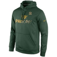 Green Bay Packers Nike Gold Collection KO Pullover Performance Hoodie Green