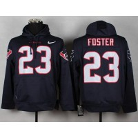 Houston Texans #23 Arian Foster Blue Pullover Hoodie