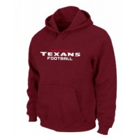 Houston Texans Authentic Font Pullover Hoodie Red