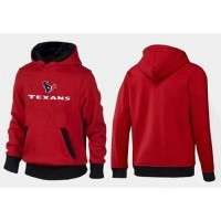Houston Texans Authentic Logo Pullover Hoodie Red & Black