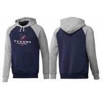 Houston Texans Critical Victory Pullover Hoodie Dark Blue & Grey