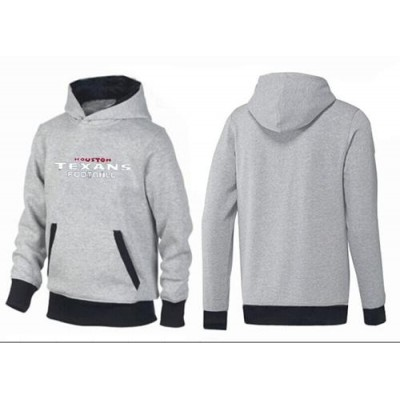 Houston Texans English Pullover Hoodie Grey & Black