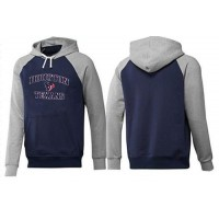 Houston Texans Heart & Soul Pullover Hoodie Dark Blue & Grey