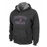 Houston Texans Heart & Soul Pullover Hoodie Dark Grey
