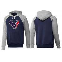 Houston Texans Logo Pullover Hoodie Dark Blue & Grey