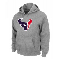 Houston Texans Logo Pullover Hoodie Grey
