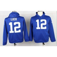 Indianapolis Colts #12 Andrew Luck Blue Pullover NFL Hoodie
