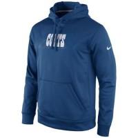 Indianapolis Colts Nike KO Speed Wordmark Performance Hoodie Royal Blue