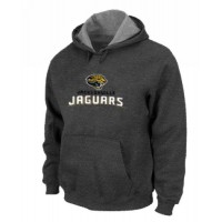 Jacksonville Jaguars Authentic Logo Pullover Hoodie Dark Grey
