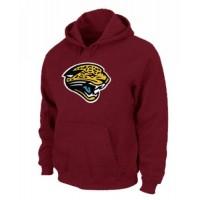 Jacksonville Jaguars Logo Pullover Hoodie Red