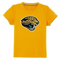 Jacksonville Jaguars Sideline Legend Authentic Logo Youth T-Shirt Yellow