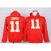 Kansas City Chiefs #11 Alex Smith NFL Pullover Hoodie Red