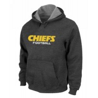 Kansas City Chiefs Authentic Font Pullover Hoodie Dark Grey