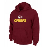 Kansas City Chiefs Authentic Logo Pullover Hoodie Red