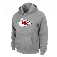 Kansas City Chiefs Logo Pullover Hoodie Grey
