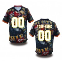 Kansas City Chiefs NFL Customized Fanatic Version Jersey