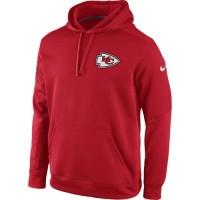 Kansas City Chiefs Nike KO Chain Fleece Pullover Performance Hoodie Red