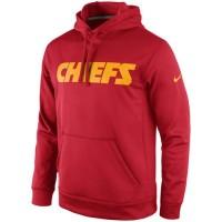 Kansas City Chiefs Nike KO Wordmark Performance Hoodie Red