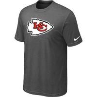 Kansas City Chiefs Sideline Legend Authentic Logo Dri-FIT Nike NFL T-Shirt Crow Grey