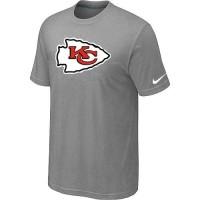 Kansas City Chiefs Sideline Legend Authentic Logo Dri-FIT Nike NFL T-Shirt Light Grey