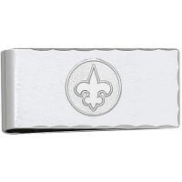 LogoArt New Orleans Saints Sterling Silver Money Clip