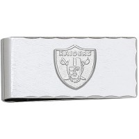 LogoArt Oakland Raiders Sterling Silver Money Clip