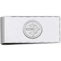 LogoArt Pittsburgh Steelers Sterling Silver Money Clip