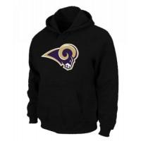 Los Angeles Rams Logo Pullover Hoodie Black