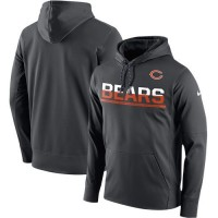 Men's Chicago Bears Nike Sideline Circuit Anthracite Pullover Hoodie