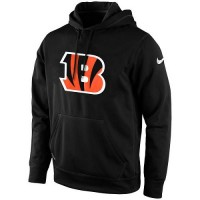 Men's Cincinnati Bengals Nike Black KO Logo Essential Hoodie