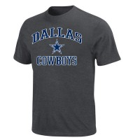 Men's Dallas Cowboys Majestic Charcoal Big & Tall Heart & Soul III T-Shirt