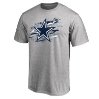 Men's Dallas Cowboys Pro Line Heathered Gray True Color T-Shirt