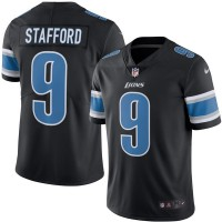 Men's Detroit Lions #9 Matthew Stafford Nike Black Color Rush Limited Jersey
