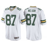 Men's Green Bay Packers #87 Jordy Nelson Nike White Color Rush Limited Jersey