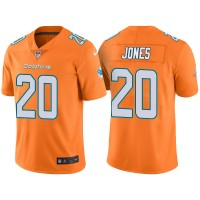 Men's Miami Dolphins #20 Reshad Jones Orange Color Rush Limited Jersey