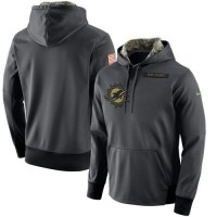 Men's Miami Dolphins Nike Anthracite Salute to Service Player Performance Hoodie
