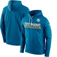 Men's Miami Dolphins Nike Blue Sideline Circuit Pullover Performance Hoodie
