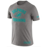 Men's Miami Dolphins Nike Heathered Gray Training Performance T-Shirt