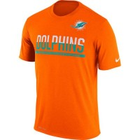 Men's Miami Dolphins Nike Practice Legend Performance T-Shirt Orange