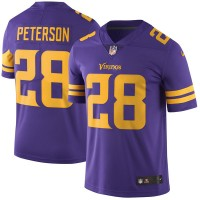 Men's Minnesota Vikings #28 Adrian Peterson Nike Purple Color Rush Limited Jersey