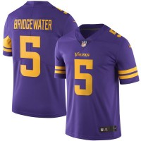 Men's Minnesota Vikings #5 Teddy Bridgewater Nike Purple Color Rush Limited Jersey
