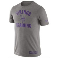 Men's Minnesota Vikings Nike Heathered Gray Training Performance T-Shirt